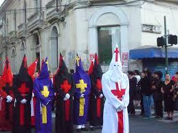 Wierd spooks Easter parading