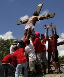 Another gruesome enactment of crucixion