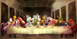 last supper cartoonc