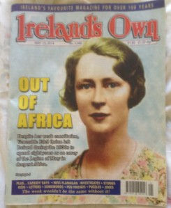 Edel on a recent cover of Ireland's Own magazine