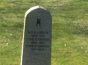 Humanist headstone Eidfjord churchyard Norway