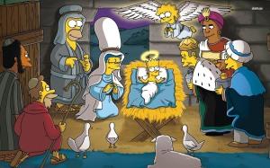 -nativity-scene simpsons-1680x1050-cartoon-wallpaper