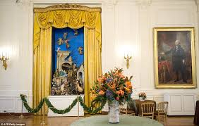 Nativity scene in the White House