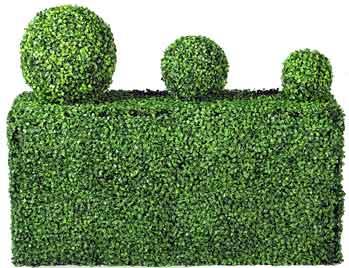 artificial box hedge