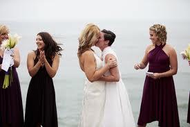 lesbian wedding kiss