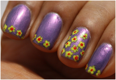 nail Simple-flowers