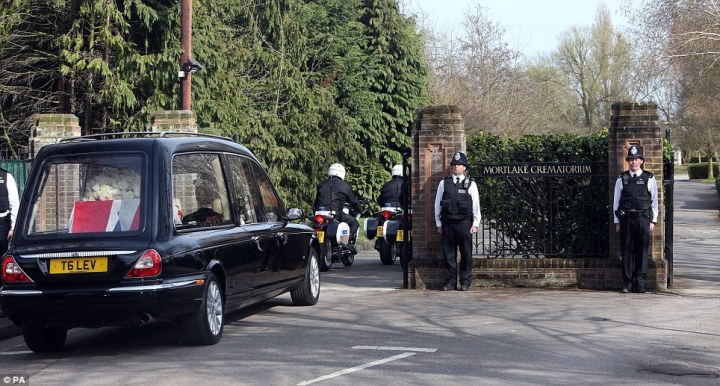 Mortlake with Thatcher hearse