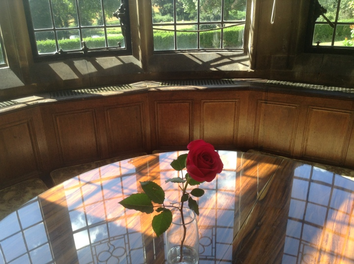 Window and rose at Rushton