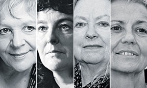 Composite image showing (from left) Liz Lochhead, Carol Ann Duffy, Gillian Clarke and Paula Meehan