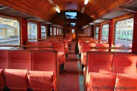 Flam railway carriage interior