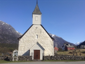 gable of old church in Eidfjord