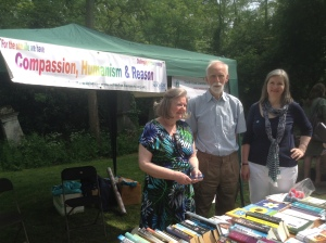 Myself, Denis and Hester in front of our BHA stall at Nunhead Cemetery Open day