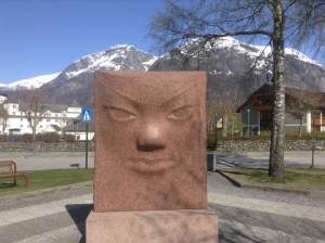 Sculpted face in Eidfjord