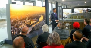 Milliband at Battersea Power Station and showing the back of my head with white roots.