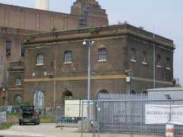 Water pumping station and its later neighbour Battersea Power Station