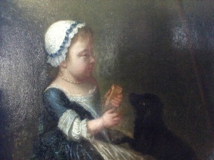Anne Damer and her dog