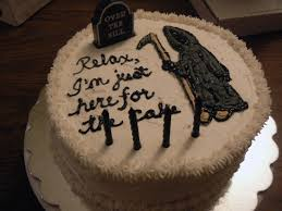 funny funeral cake
