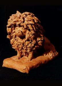 Poodle in terracotta