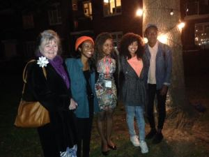 The young filmakers and I at the pop up cinema on the Patmore 19th September 2015