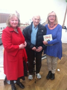 Me, Anthony Simmons director of The Optimist Of Nine Elms and Joan at the screening at the Battersea Power Station site.