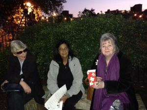 Sumi Tikaram, her friend and I at the pop up cinema