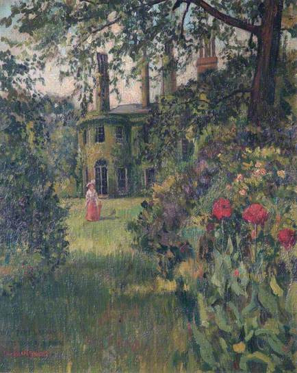 Battersea Rise House garden with flowers by bursill