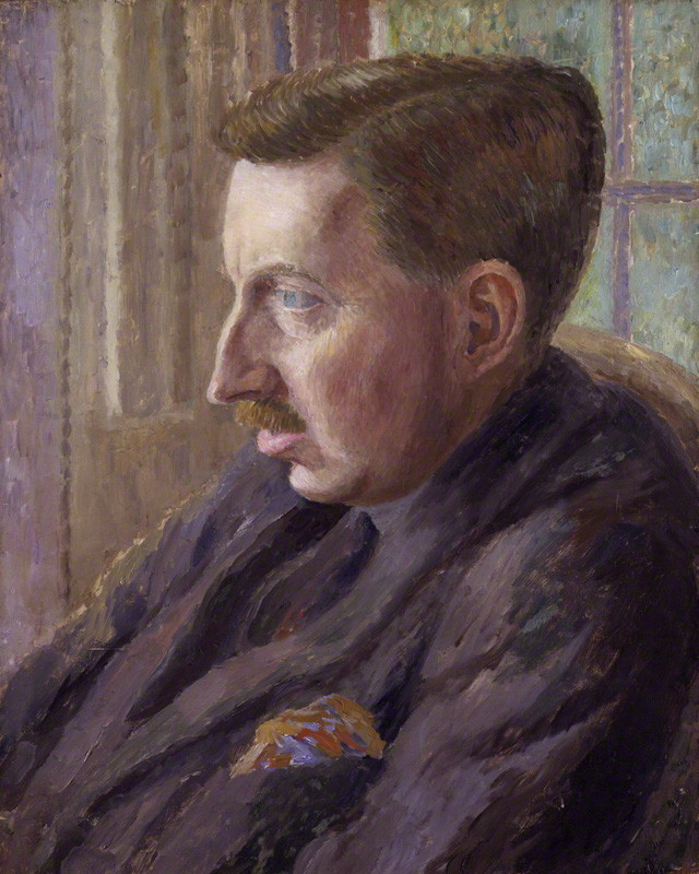 NPG 4698; E. M. Forster by Dora Carrington