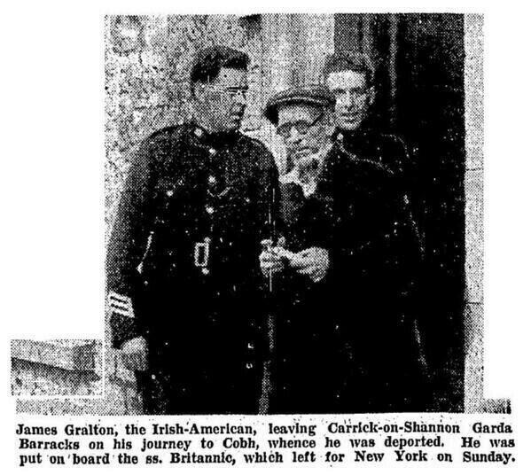 James-Gralton. being deported