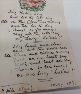 Tom to Lucy at Christmas 1871
