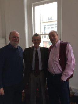 Col, Ian and Dave, ex-editors of News bulletina