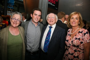 Garry with President Michael D Higgins at the Hampstead Theatre 2012 and photo taken by Joanne O'Brien