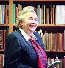 Maureen Kenny in the bookshop