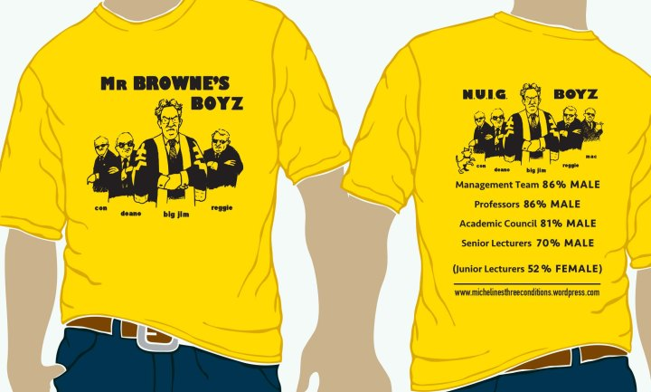 NUIG MR BROWNES BOYS YELLOW TEE 2