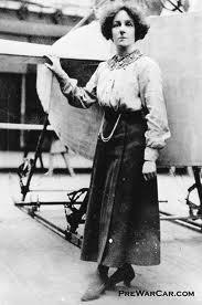 Hilda Hewlett with one of her aeroplanes