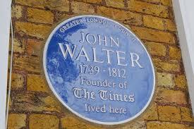 Gilmore plaque to John walter