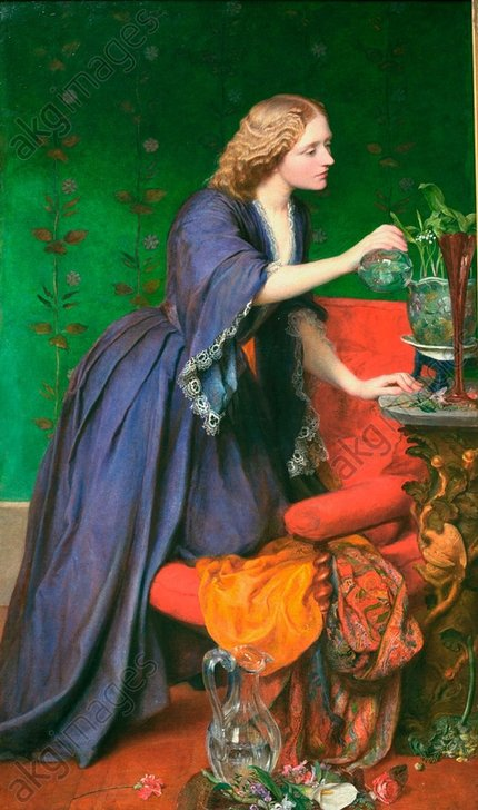 G.F.Watts, Jane Elizabeth Hughes - J.Elizabeth Hughes /Ptg.by Watts/ 1858 -