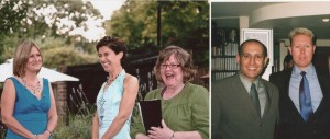 Wedding-couples with Jeanne celebrant