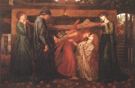 William Stillman as Dante and Marie bookending the painting