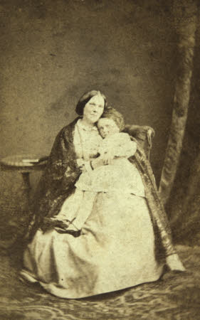 Photograph, Laura Wilson Barker, Mrs Tom Taylor (d.1905) and son