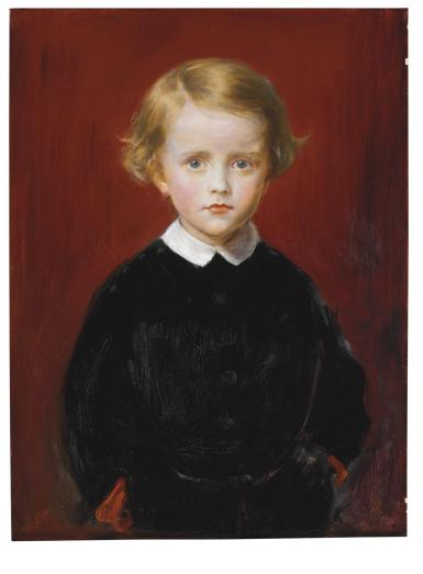 Laura Barker's son Wycliffe's portrait by Millais