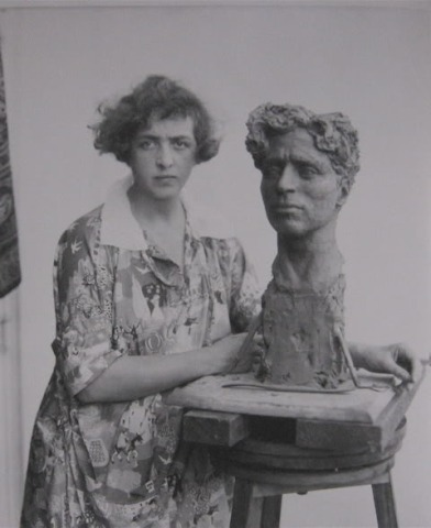 Clare and Chaplin bust