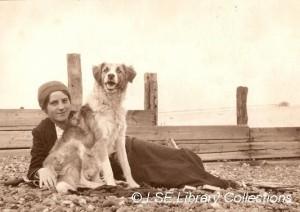 Elsie and dog