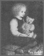 Elsa painted by her aunt Mary Lanchester