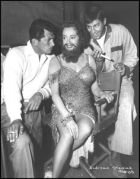 Elsa as the bearded lady with Jerry Lewis and Dean Martin with
