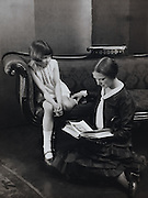 Ethel reading to Jean
