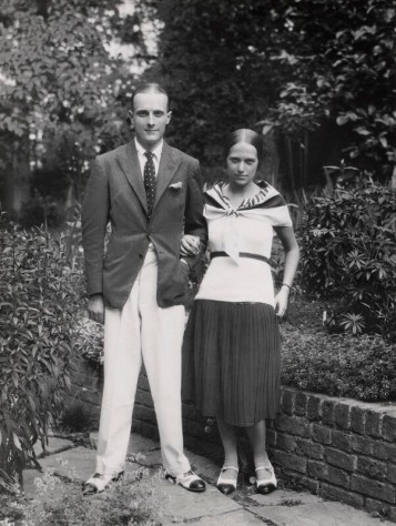 Ethel with photographer Paul Tanqueray in her garden in Wimbledon
